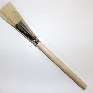 Ateco traditional wood flat pastry : glazing brush 19cm