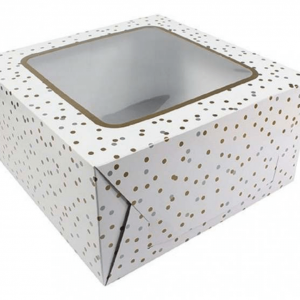 10 Metallic Spot cake window transportation box